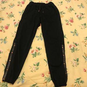 Lululemon Var-City Track Pant Black/Rose Gold Sz 2